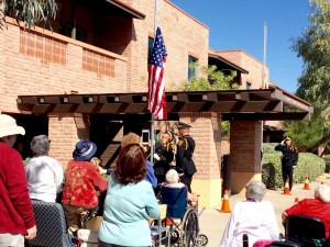 Two Flags raised at Handmaker Assisted Living Center | Flags for the